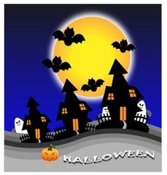Halloween day vector image