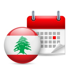 Icon of National Day in Lebanon vector image