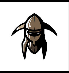 image of helmet of the viking vector image vector image
