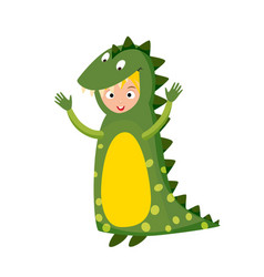 kid crocodile costume festival superhero character vector image vector image