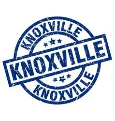Knoxville blue round grunge stamp vector