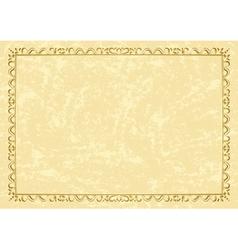 light beige vintage frame vector image