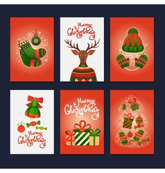 Merry Christmas gift cards vector image