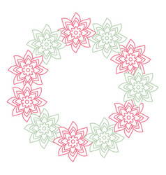 round frame flower vector image