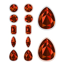set of five forms of Spinel vector image