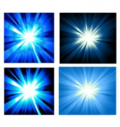 set of ray lights explosion vector image vector image