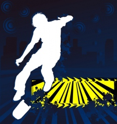 skateboarder grunge poster vector image vector image