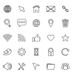Website line icons on white background vector