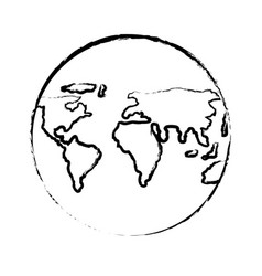 World map sphere icon vector