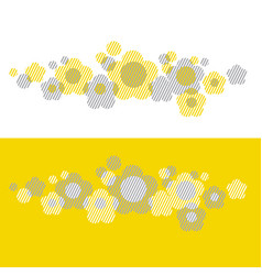 Yellow geometry style floral vector