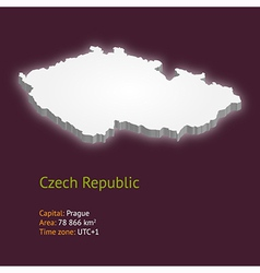 3d map of the czech republic vector