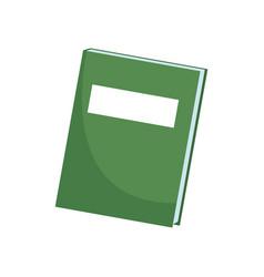 Green book close literature learn utensil vector
