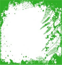 frame floral background ornament leaves vector image