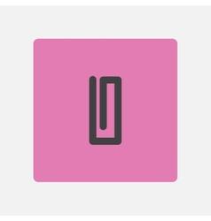 Paperclip icon vector image