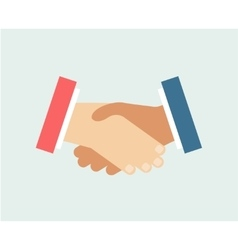 Handshake logo icon isolated friends vector