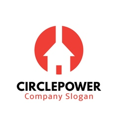 Circle power design vector