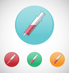 Syringe injector icon set vector