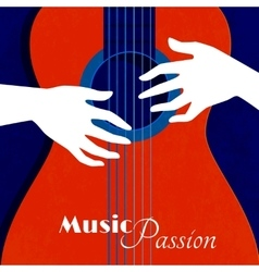Music passion poster vector