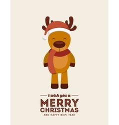 Reindeer icon merry christmas design vector