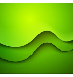 Abstract colorful green waved background vector