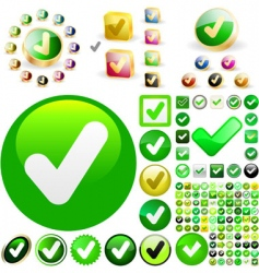 approved vector buttons vector image vector image