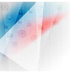 Blue red abstract tech communication design vector