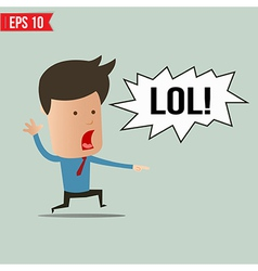 Businessman laughing out loud - - eps10 vector