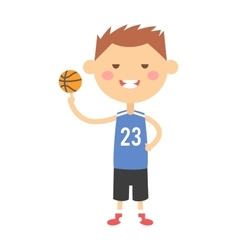 Cartoon basketball young boy vector image vector image