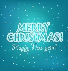 Christmas greeting card merry christmas and vector