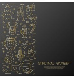 Christmas isolated concept flyer card with vector image vector image