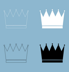Crown the black and white color icon vector