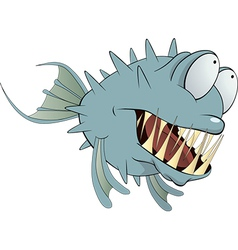 Deep water fish Balloonfish Cartoon vector image vector image
