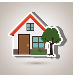 eco house design vector image vector image