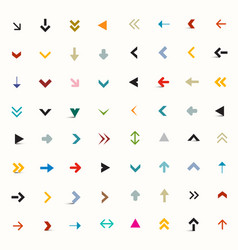 Flat arrows set vector