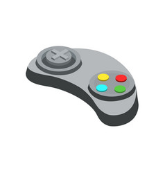 gamepad device isometric 3d icon vector image vector image