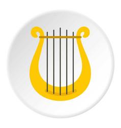 Harp icon circle vector