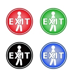 Icon labeled Exit vector image vector image