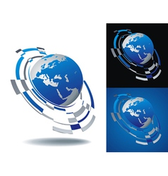 logo europe segment vector image