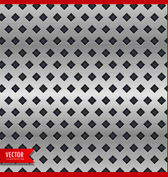 Metal background with rhombus shape patterns vector