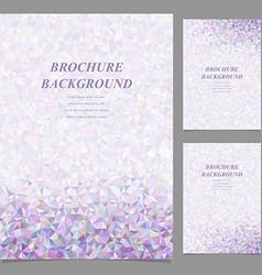 Modern abstract brochure template design vector