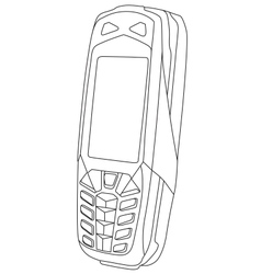 Modern Mobile Phone vector image