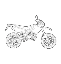 outline motorcycle vector image vector image