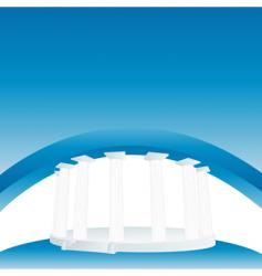 pillar banner vector image vector image