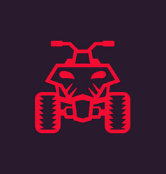 quad bike atv icon vector image vector image