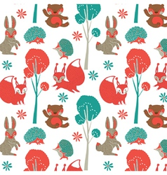 rabbit forest wallpaper vector image vector image