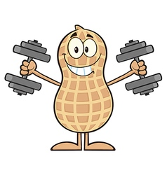 Royalty free rf clipart smiling peanut cartoon vector