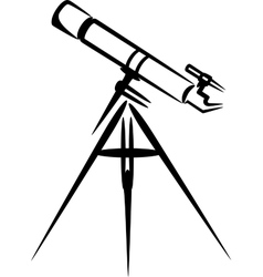 simple with telescope vector image