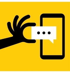 Smartphone Message vector image