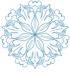 Snowflake blue flower on a white background vector