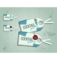 Summer cocktail party sticker and label layout vector image vector image